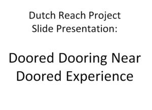 Dutch Reach Project Slide Presentation title page
