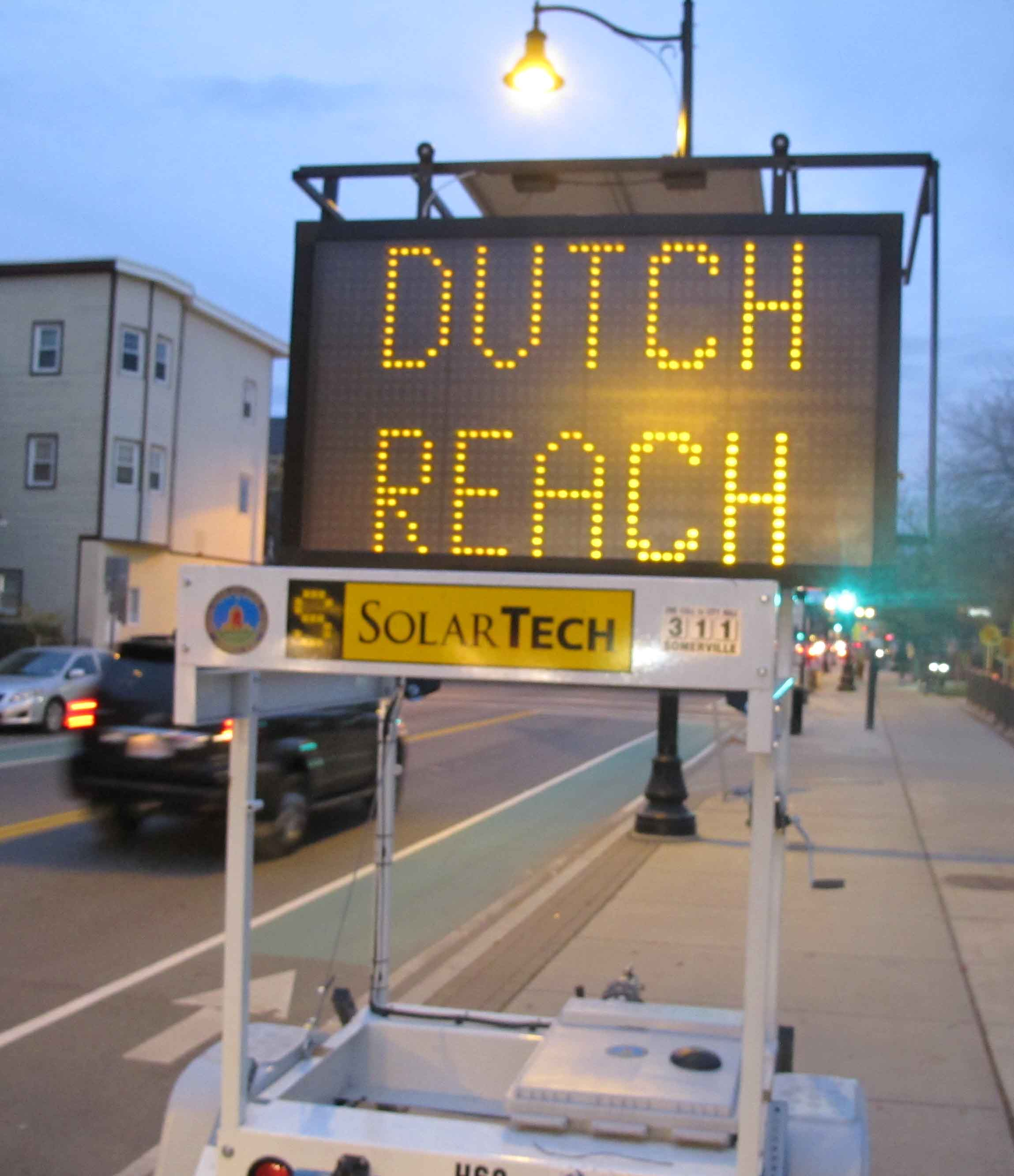 Dutch Reach Traffic Sign Electronic Moble