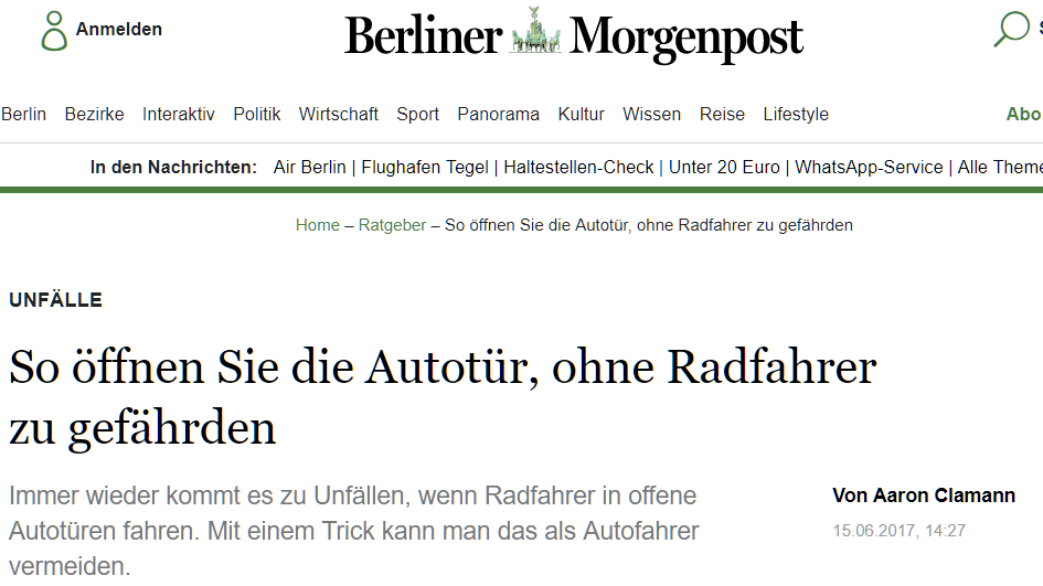 Berliner Morgenpost screenshot