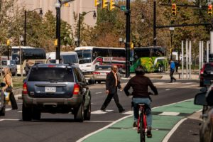 Multi-modal traffic on city street