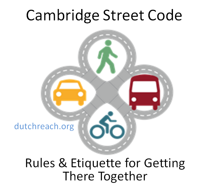Cambridge Street Code teaches the Dutch Reach. Click image; see page 9. Doors are Dangerous. Avoid dooring by staying outside the Door Zone. Dirvers use your far hand to exit more safetly.