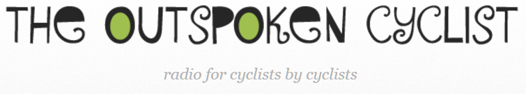 Outspoken Cyclist podcast Header; a bike show hosted by Diane Jenks