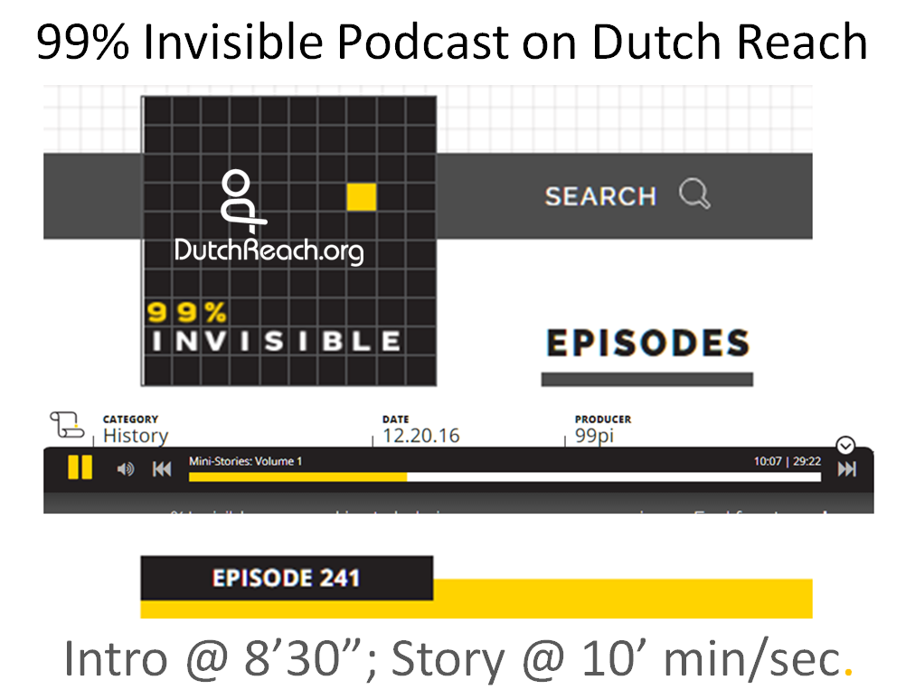 Graphic in black, grey, yellow on white background of podcast with audio application bar, but image must be clicked to go to live podcast website & use real appt. audio bar to listen.