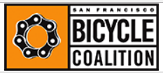 San Francisco Bicycle Coalition logo. SFBC prompted inclusion of the Dutch Reach into road safety videos for truck drivers and Uber ride share drivers.